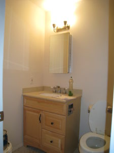 Bathroom Before Vacant Home Staging