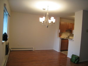 Dining Room Before Vacant Home Staging