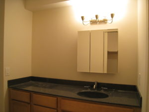 Dressing Area Before Vacant Home Staging