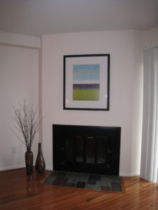 Fireplace After Vacant Home Staging