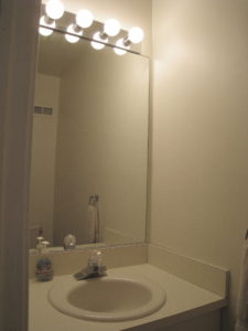 Home Improvement Project - Powder Room Before Interior Decorating
