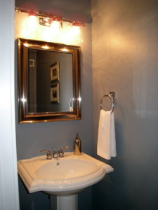 Home Improvement Project - Powder Room After Interior Decorating