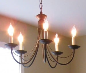 DIY Home Decorating Tip that Really Works - Chandelier After