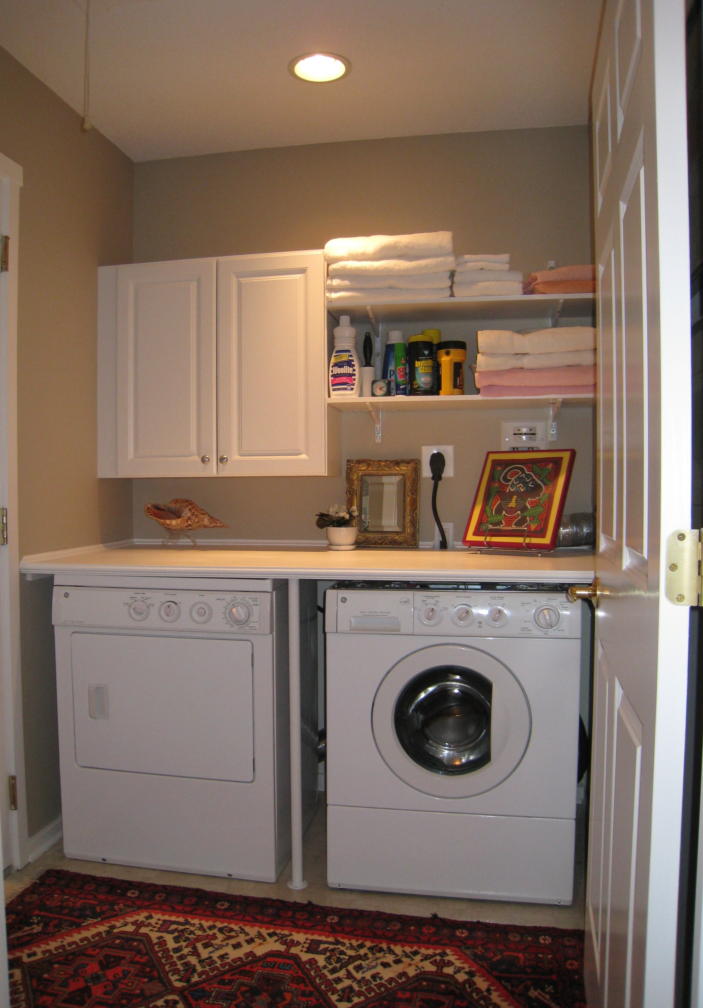 Small laundry room makeovers homes decoration tips for Room makeover