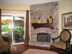 Fireplace - Home Decorating - After