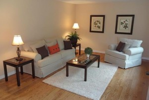 Family Room After Home Staging in Rye NY