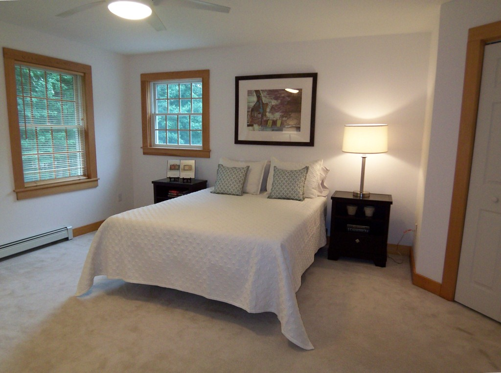 Vacant home staging money well spent atwell staged home Master bedroom home staging
