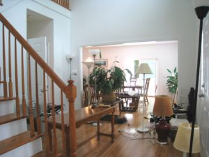 Dining Room/Entry During Home Staging in Patterson NY