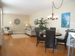 Living/Dining Room After - Home Staging Cortlandt Manor
