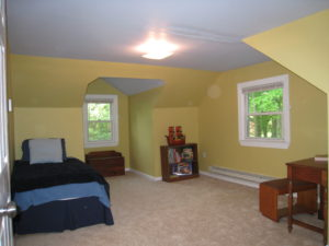 Home staging believer's upper bedroom after home staging