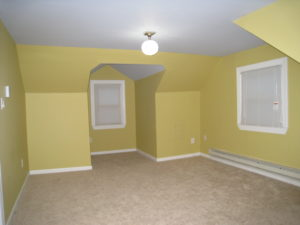 Home staging believer's upper bedroom before home staging