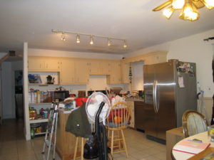 Home staging believer's Kitchen/Dining Room before home staging