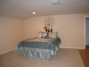 Home staging believer's master bedroom after home staging