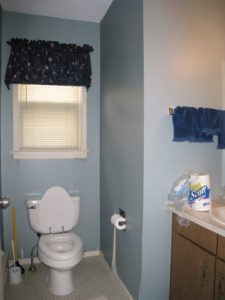 Powder Room Before AtWell Staged Home